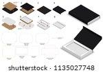 magnet lock rigid box 3d mockup ... | Shutterstock .eps vector #1135027748