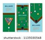 billiard or snoker background.... | Shutterstock .eps vector #1135030568