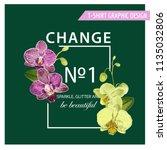 love romantic floral spring... | Shutterstock .eps vector #1135032806