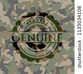 genuine on camo texture | Shutterstock .eps vector #1135034108
