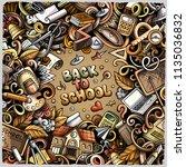 cartoon vector doodles back to... | Shutterstock .eps vector #1135036832
