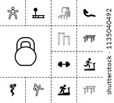 workout icon. collection of 13... | Shutterstock .eps vector #1135040492