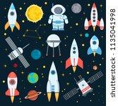rocket space globe solar system ...   Shutterstock .eps vector #1135041998