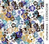 abstract art seamless pattern.... | Shutterstock .eps vector #1135042148