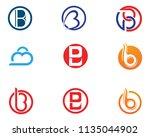 b letter with shield logo... | Shutterstock .eps vector #1135044902