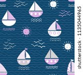 seamless vector pattern with... | Shutterstock .eps vector #1135044965