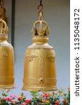 wat koh kaew in ayutthaya ... | Shutterstock . vector #1135048172