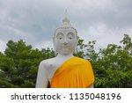 wat koh kaew in ayutthaya ... | Shutterstock . vector #1135048196