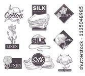 cotton and silk linen vector... | Shutterstock .eps vector #1135048985
