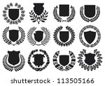 medieval shields and laurel... | Shutterstock . vector #113505166