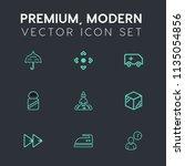 modern  simple vector icon set... | Shutterstock .eps vector #1135054856