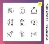 modern  simple vector icon set... | Shutterstock .eps vector #1135054892