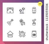 modern  simple vector icon set... | Shutterstock .eps vector #1135055036