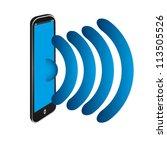 mobile phone | Shutterstock .eps vector #113505526