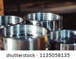 high precision hot forging... | Shutterstock . vector #1135058135