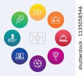 modern  simple vector icon set... | Shutterstock .eps vector #1135058546
