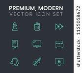 modern  simple vector icon set... | Shutterstock .eps vector #1135058672