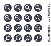 magnifying glass flat glyph... | Shutterstock .eps vector #1135059962