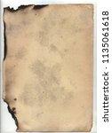 vintage paper with folds  dark... | Shutterstock . vector #1135061618