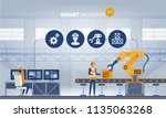industry 4.0 smart factory... | Shutterstock .eps vector #1135063268