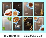 set of posters for oktoberfest. ... | Shutterstock .eps vector #1135063895