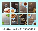 set of posters for oktoberfest. ... | Shutterstock .eps vector #1135063895