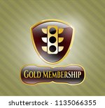 shiny emblem with traffic... | Shutterstock .eps vector #1135066355