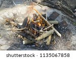 the fire and the fire in the... | Shutterstock . vector #1135067858