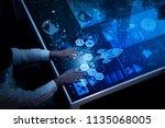 financial technology flowchart... | Shutterstock . vector #1135068005
