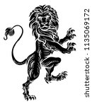 a lion rampant standing on its... | Shutterstock .eps vector #1135069172