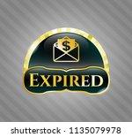 golden badge with envelope...   Shutterstock .eps vector #1135079978