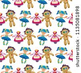different dolls toy character... | Shutterstock .eps vector #1135081898