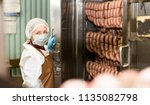 woman checking quality of... | Shutterstock . vector #1135082798