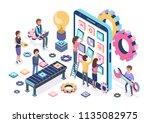 mobile development process... | Shutterstock .eps vector #1135082975