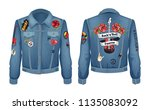 rock n roll forever patches... | Shutterstock .eps vector #1135083092