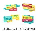 super sale exclusive offer week ... | Shutterstock .eps vector #1135083218