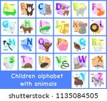 children alphabet posters set... | Shutterstock .eps vector #1135084505