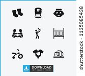 newborn icon. collection of 9... | Shutterstock .eps vector #1135085438