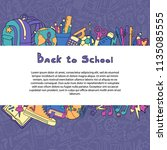 back to school set of study... | Shutterstock .eps vector #1135085555