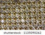 canvas of crystal rhinestones... | Shutterstock . vector #1135090262