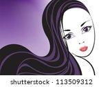 portrait of a beautiful girl... | Shutterstock .eps vector #113509312