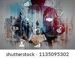 business process management... | Shutterstock . vector #1135095302