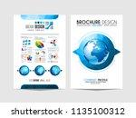 brochure template  flyer design ...   Shutterstock . vector #1135100312