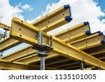 monolithic frame construction... | Shutterstock . vector #1135101005