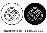 woven effect icon. vector... | Shutterstock .eps vector #1135103222