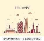 tel aviv skyline  israel.... | Shutterstock .eps vector #1135104482