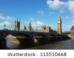 houses of parliament with... | Shutterstock . vector #113510668
