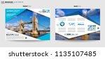 brochure template  flyer design ...   Shutterstock . vector #1135107485