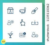 modern  simple vector icon set... | Shutterstock .eps vector #1135110362