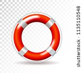 life buoy isolated on... | Shutterstock .eps vector #1135110548